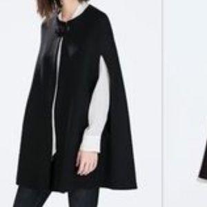 Zara black cape
